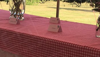 Our beer benches can be hired separately or as a set with a table! Perfect for outdoor events.
