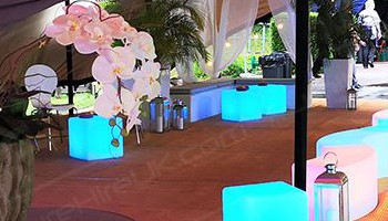Our LED furniture can be illuminated in a variety of colours!