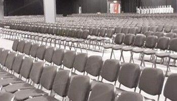 Event City Black Stacking Chairs