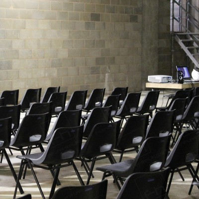 Construction Meeting - Black polyprops have a smart finish for work meetings.