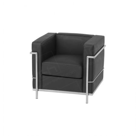 1 Seater Corbusier Sofa Hire Black