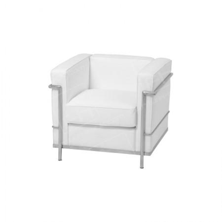 1 Seater Corbusier Sofa Hire White