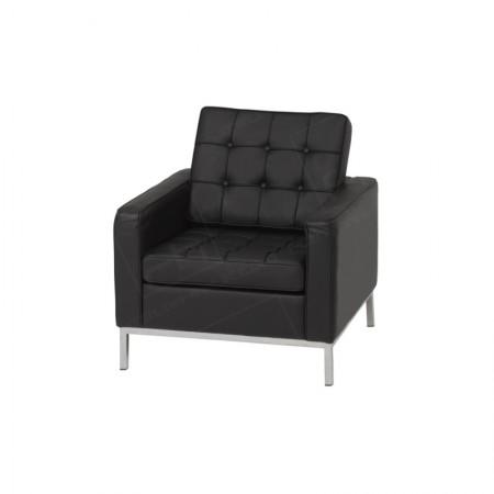 1 Seater Montague Sofa Hire Black