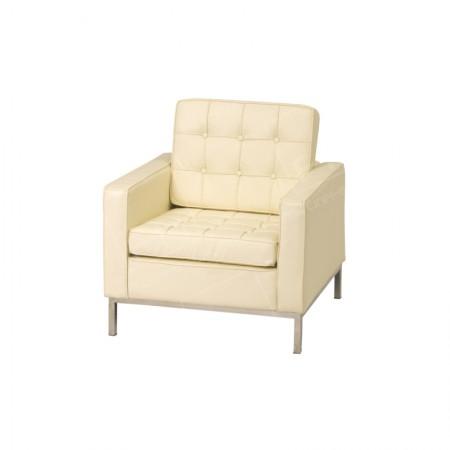 1 Seater Montague Sofa Hire Cream