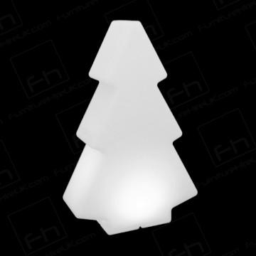 150cm White Illuminated Tree