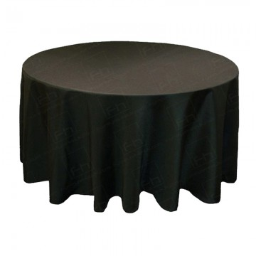 5ft Round Table Cloth Black