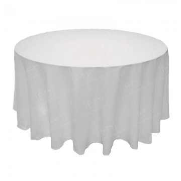 5ft Round Table Cloth White