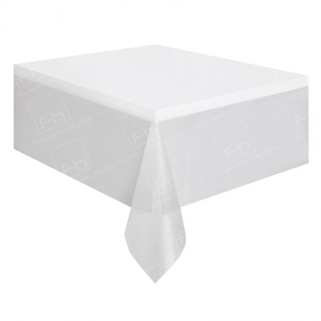 6ft Rectangular Table Cloth White