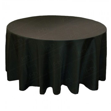6ft Round Table Cloth Black