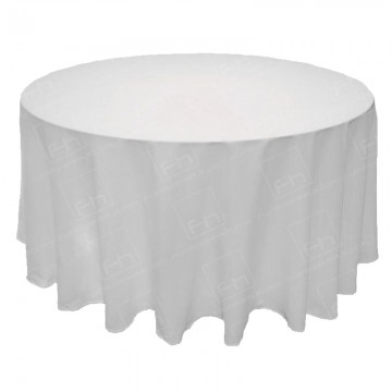 6ft Round Table Cloth White