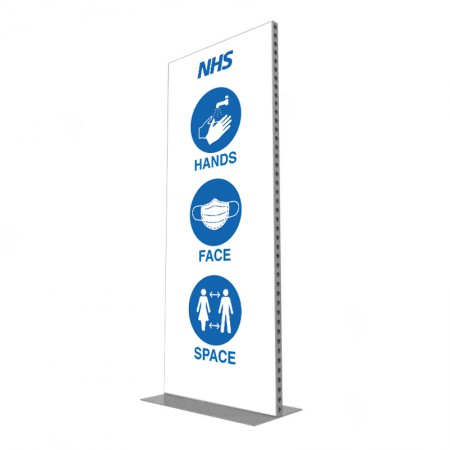 1m Lightweight Portable Aluminium Partition Branded
