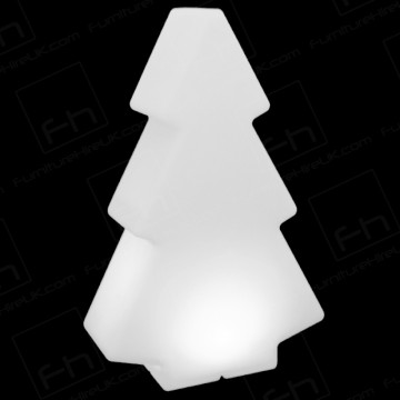 200cm White Illuminated Tree