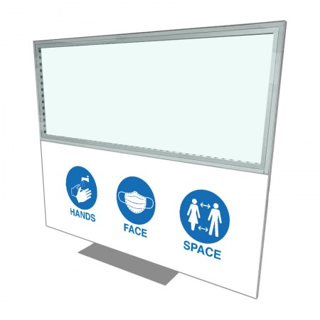 2400 X 2000 Freestanding Covid Screen Branded