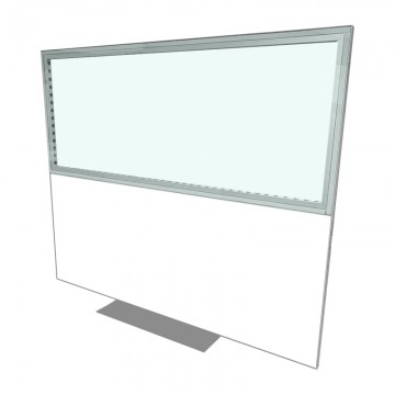 2400 X 2000 Freestanding Covid Screen Plain