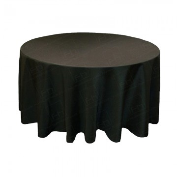 4ft Round Table Cloth Black
