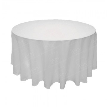 4ft Round Table Cloth White