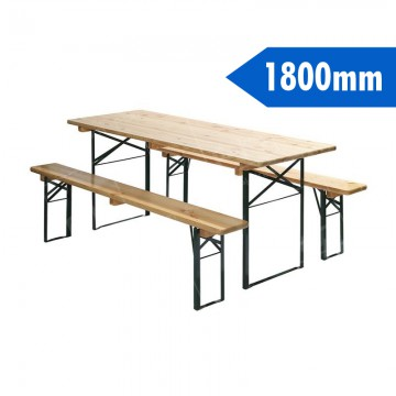 1800mm Beer Table And Benches Furniture Hire Uk