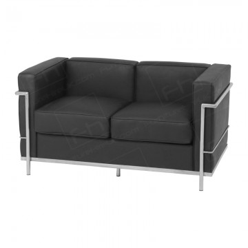 2 Seater Corbusier Sofa Hire Black