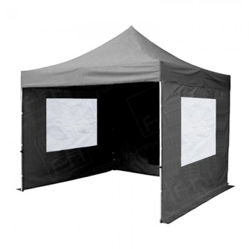 Black Gazebo Hire With Sides And Windows