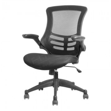 Black Mesh Operator Chair