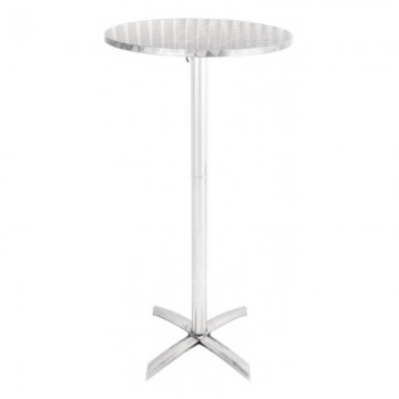 Flip Top Chrome Poseur Table Hire 2020
