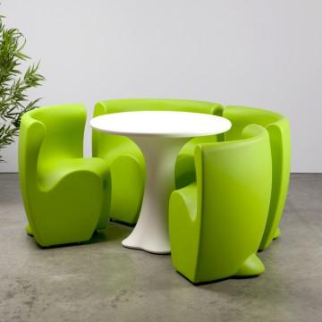 Petal Dining Set Green