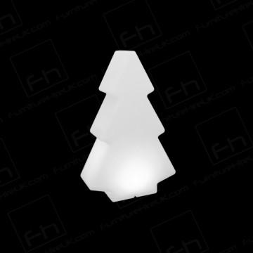 45cm White Illuminated Tree