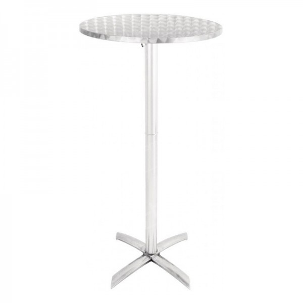 Chrome Poseur Table Flip-Top