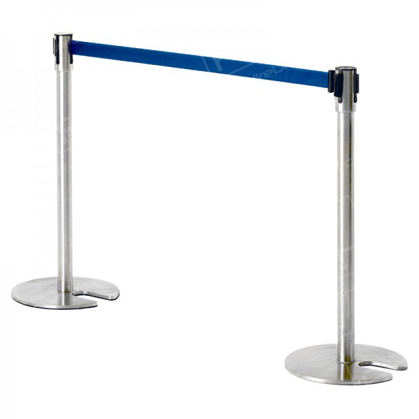Chrome Stretch Barrier - Blue Webbing