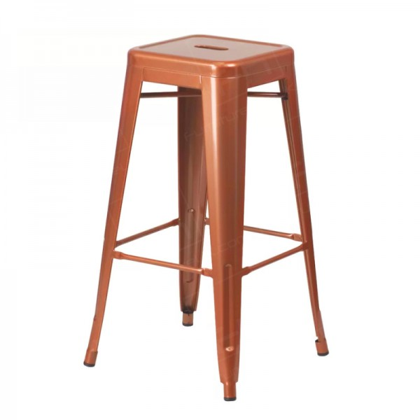 Copper Tolix Style Bistro Bar Stool
