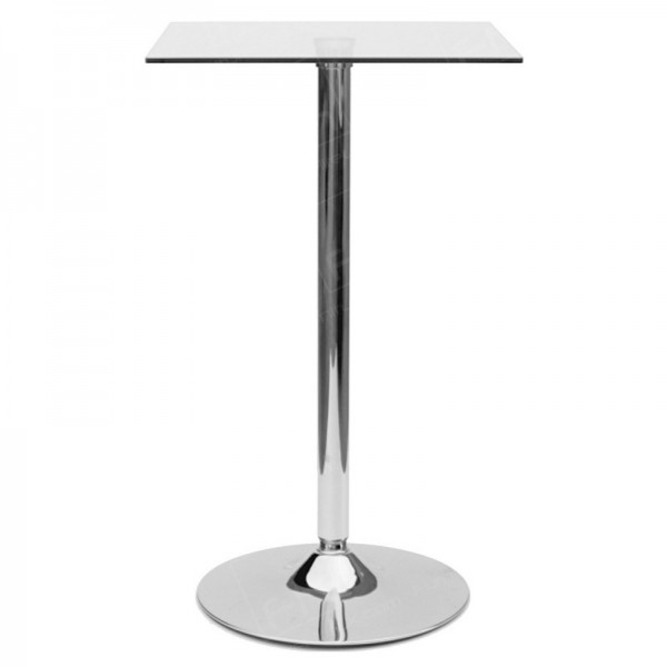 Square Glass Poseur Table