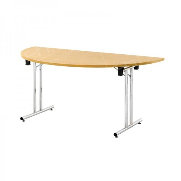 1600 x 800mm Light Oak Modular D-End Table