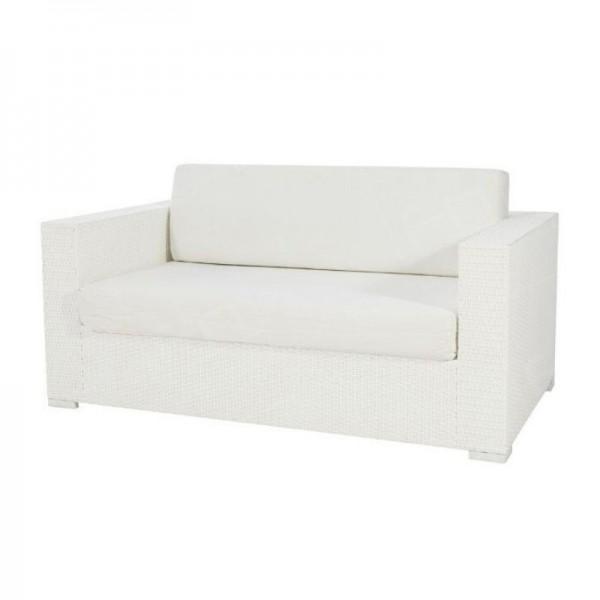 Rattan Sofa - White
