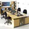 1600 x 800mm Light Oak Desk 3