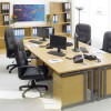 1600 x 800mm Light Oak Desk 5