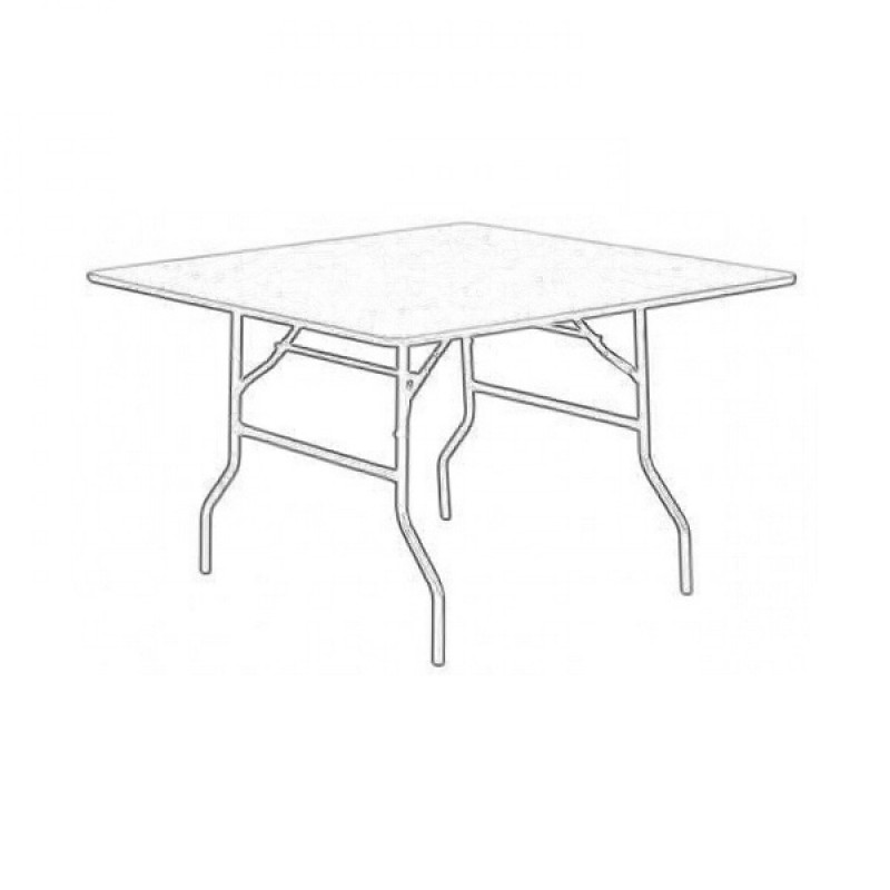 4ft Square Trestle Table Hire (Seats 4) Wireframe