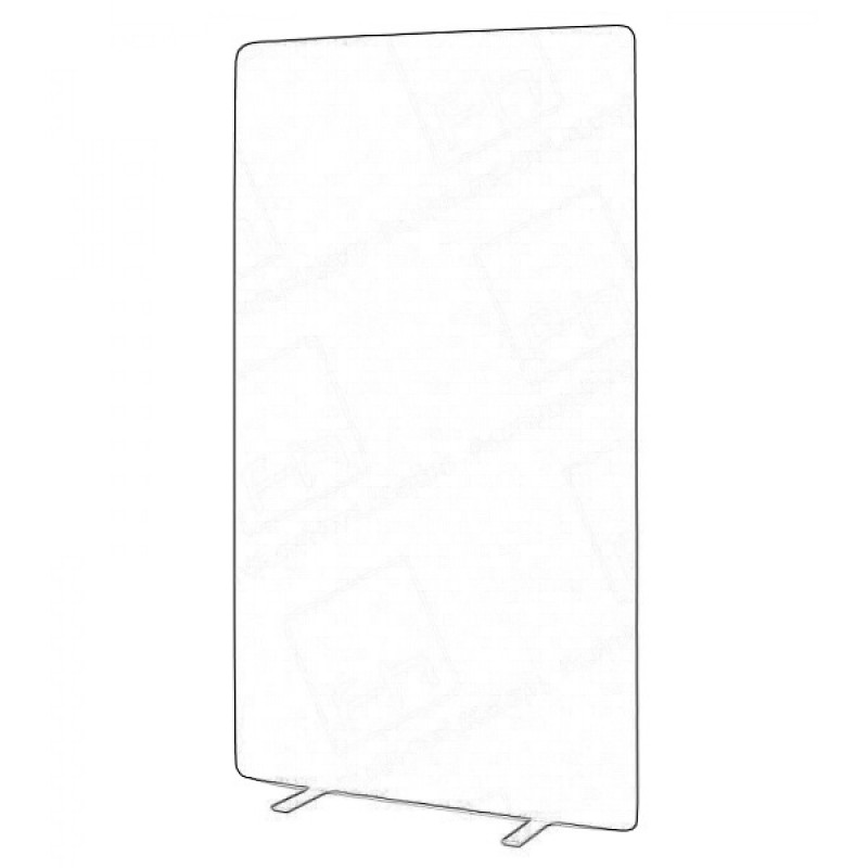Freestanding Partition Screen 1000w x 1800h Wireframe