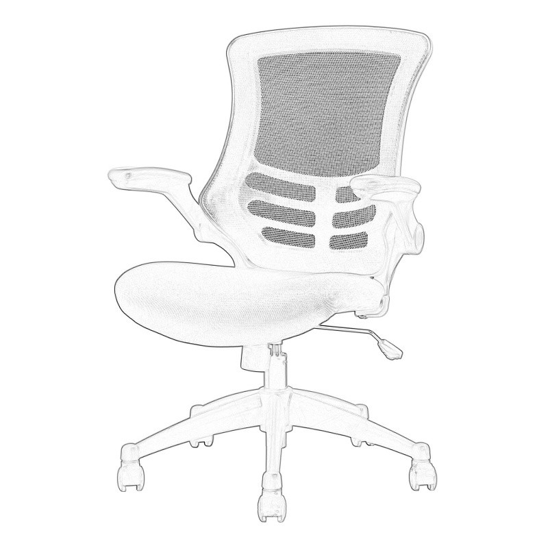 Black Mesh Operator Chair Wireframe