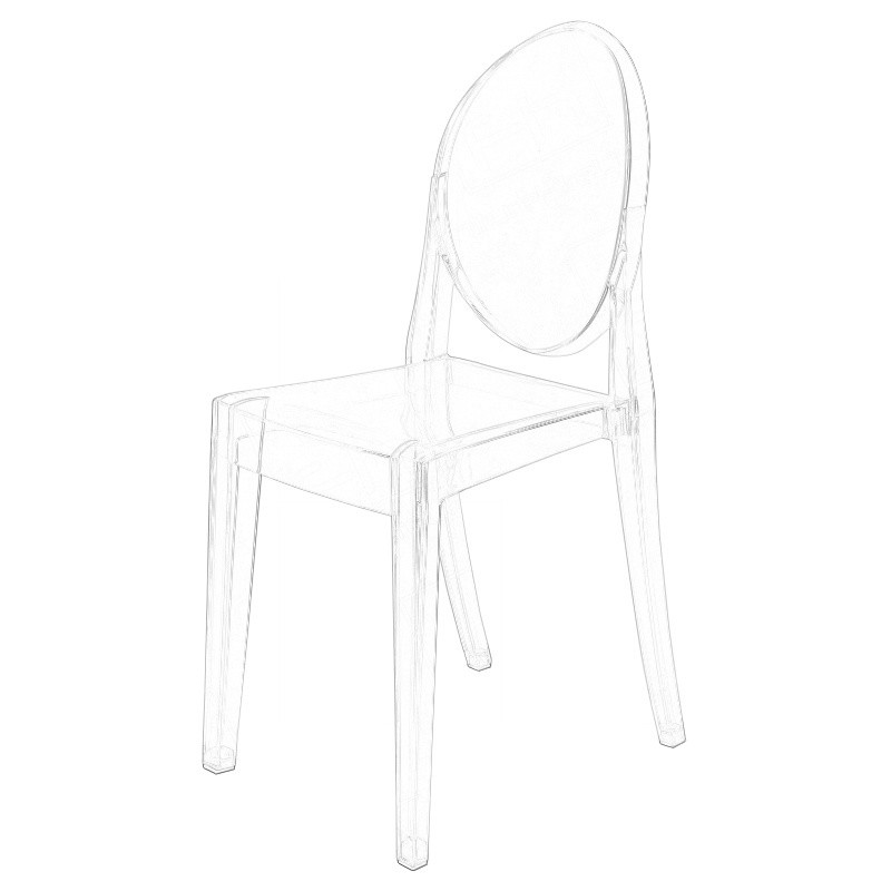 Ghost Victoria Chair Wireframe