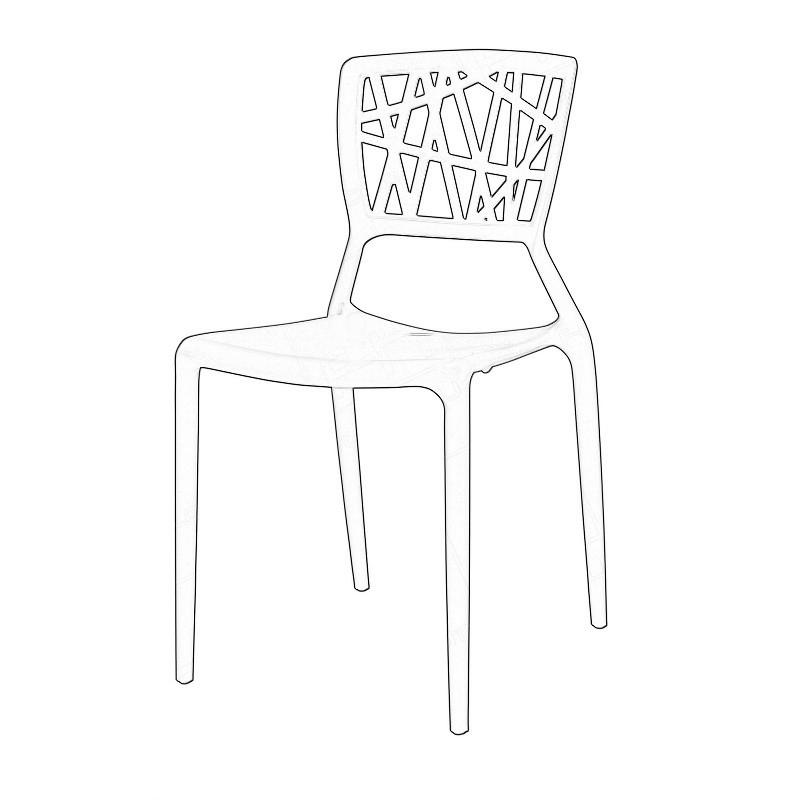 Webb Chair Black Wireframe