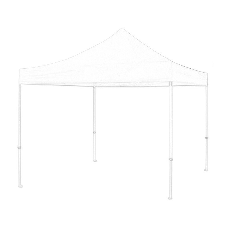 White Gazebo 3x3m Wireframe