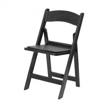 Black Folding Resin Chair2