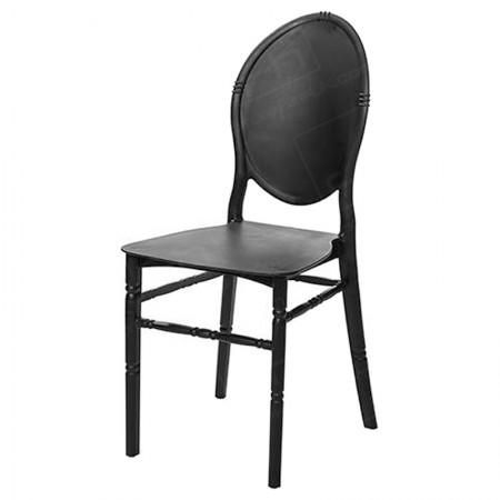 Black Medaillion Chair Hire