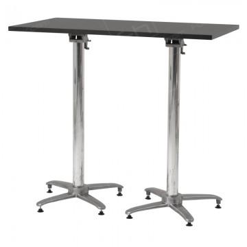Black Rectangular Poseur Table