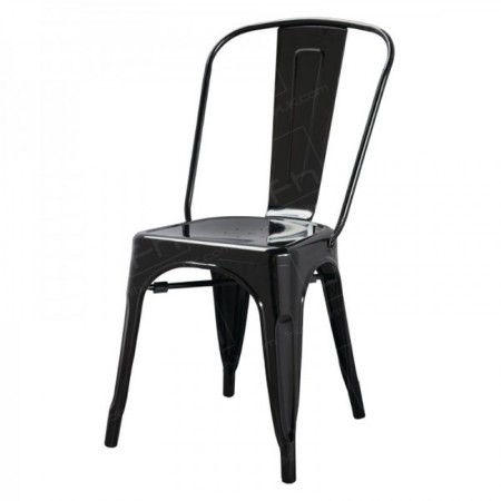 Black Tolix Style Stacking Chair Hire