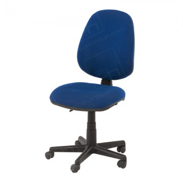 Blue Operators Chair Without Arms