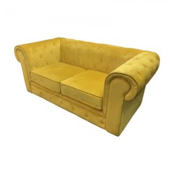 Chesterfield Fabric Sofa Rental Mustard