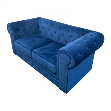 Royal Blue Chesterfield Fabric Sofa Hire