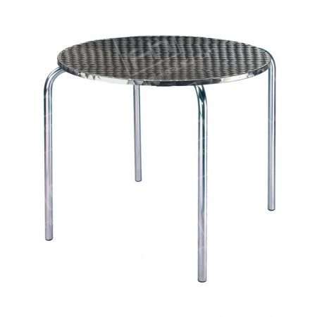 Chrome Bistro Table 4 Legs