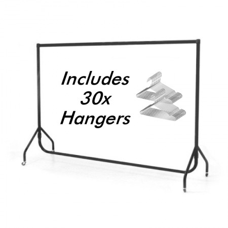 Coat Rail With 30 Hangers Included